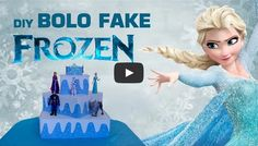 Aprenda a fazer um bolo Fake Inspirado no filme Frozen → http://fiamapereira.com/diy-bolo-fake-frozen/