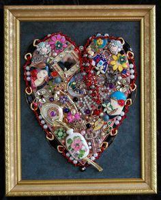 vintage  jewelry heart by artthatglitters on Etsy, $59.00