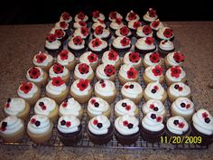 Red/White/Black Bridal Shower Cupcakes