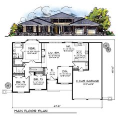 Prairie Style Southwest House Plan 73219