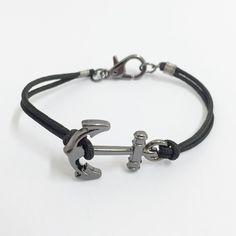 pulseira masculina ancora navy âncora tribal estilo rua moda bracelet mens mensbracelets anchor cocar brasil