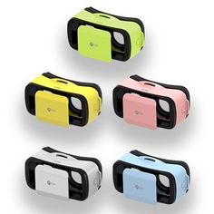 Virtual Reality Headsets for smartphones White Blue Pink Yellow Green Blue * Find out more about the great product at the image link.Note:It is affiliate link to Amazon.