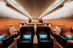 The broadest most comfortable seat in the Singapore Airlines Business Class