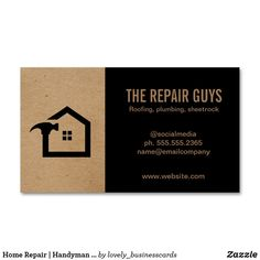 Home Repair | Handyman | Construction Business Card Magnet Company Business Cards, Real Estate Business Cards, Business Card Logo, Construction Business Cards, Construction Theme, Handyman Logo, Building Logo, Magnetic Business Cards, Professional Business Card Design