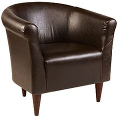Walnut Faux Leather Tub Chair     from Big Lots
