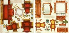 Printable furniture for dollhouses