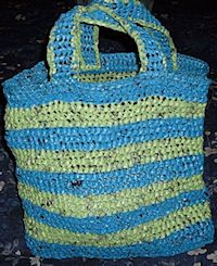 12 Crafts You Can Make Out of Plastic Bags: Grocery Bag Tote Bag