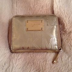 Michael Kors wallet Cute gold and in good condition! Michael Kors Bags Wallets