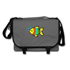 Geschenke Shop | Bunter Fisch - Umhängetasche Laptop, Backpacks, Bags, Fashion, Zipper Bags, Hang In There, Handbags, Moda, Fashion Styles