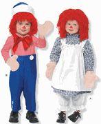 Toddler Raggedy Ann & Andy Costume Pattern - Simplicity 9375AA, 0648AA,  4003AA, or 2510AA