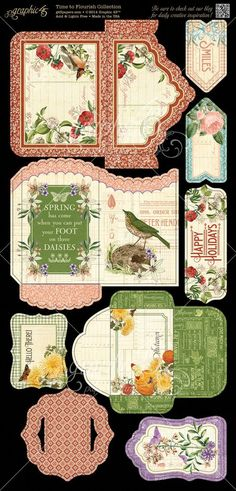 Time to Flourish cardstock Tags & Pockets 2! This calendar collection will be in stores in early November! #graphic45 #sneakpeeks