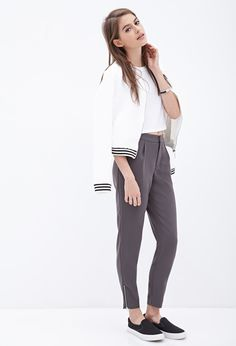Zippered Woven Trousers