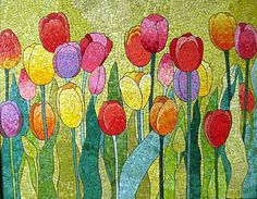 Mosaic tulips. Could not trace the artist name.