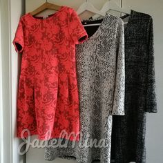 Tunics and a dress. All made from knits.