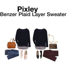 """""""Benzer Plaid Layer Sweater"""" by hanger731x on Polyvore"""