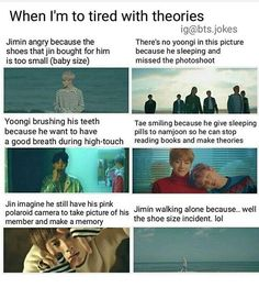 This were the kind of theories my sister and I came up with
