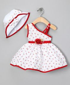 Red Floral Sundress Set - Infant by Shanil on #zulily