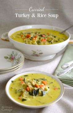 Spice up your turkey and rice soup with curry and coconut milk for a delicious take on a classic, comforting soup. It tastes great with chicken, too.