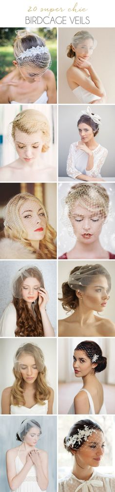 20 Super Chic Birdcage Veils from Etsy Wedding Hair And Makeup, Wedding Hair Accessories, Bridal Hair, Wedding Veils, Wedding Bride, Birdcage Veils, Bridal Headpieces, Fascinators, Bridal Looks