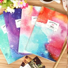 Random Style - New Romatic Color Starry sky series Kraft paper notebook/journal Diary/Notepad/Memo pads No.0010