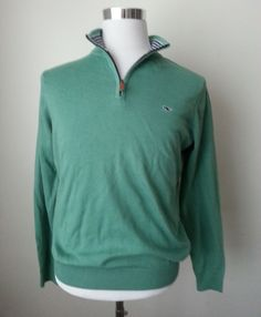 #ebay Vineyard Vines cotton Quater Zip sweater Solid Starboard Green Men's Size S New withing our EBAY store at  http://stores.ebay.com/esquirestore