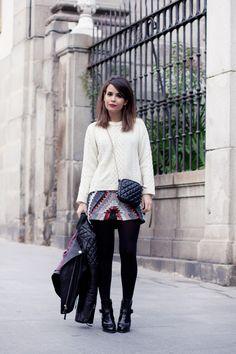 Beaded_Skirt-Biker_Jacket-Street_Style-Outfit-.jpg (790×1185)