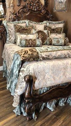 Bedroom Sets, Bedroom Decor, King Bedding Sets, Luxury Bedding Sets, Victorian Bedroom, Dreams Beds, Bathroom Design Luxury, Home Decor Furniture, Furniture Design