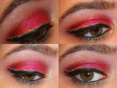 Disney Inspired Makeup - Beauty and the beast - the rose
