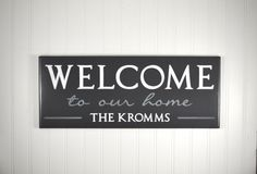 Carved Welcome Sign with Family Name -Personalized Wood Welcome Sign -Welcome to Our Home - Customized Home Decor Gift -Wooden Family Plaque