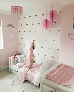 Gold and Pink Girls Nursery Decor