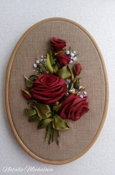 Wonderful Ribbon Embroidery Flowers by Hand Ideas. Enchanting Ribbon Embroidery Flowers by Hand Ideas. Embroidery Designs, Ribbon Embroidery Tutorial, Silk Ribbon Embroidery, Embroidery Stitches, Embroidery Patterns, Hand Embroidery, Embroidery Bracelets, Cross Stitches, Embroidery Techniques