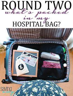 Round Two: What's Packed in My Birthing Hospital Bag? #hospitalbag #deliveryroom #laboranddelivery #birthcenter #expectantmother #pregnant #momblog #momblogger #savingamyblog