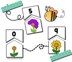 Le printemps - dénombrement : Puzzle d´association