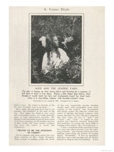 Page from Arthur Conan Doyle's Article Discussing the Evidence for the Existence of Fairies
