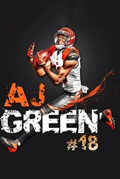 Cincinnati Bengals #18 A.J. Green jerseys Nfl Football Teams, Football Love, Funny Football