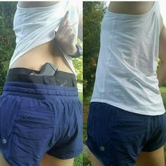 """""""Trying out my new Can Can Conealment Holster today with a Glock 43. Paired with my Lula Hotyy Hot shorts and tank. I thought it would print through the shirt but surprisingly it didn't and the extra side pocket on the holster came in handy for my phone. I think this holster will come in handy for those days when you want to dress down or go work out without having to change clothing. and maintain the option to conceal"""" @Bekahj556 #workoutWednesday #Glock43 #protection #CanCanConcealment…"""