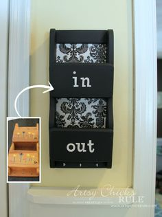 Thrifty Makeover- Swap It Challenge - Dated mail organizer..updated...Easy!!! #repurposed #diy artsychicksrule.com