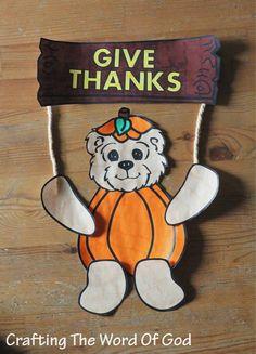 Give Thanks Door Hanger
