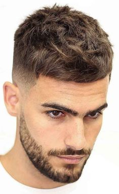 13 Men's Hair Trends That Aren't The Fade Hairstyles & Haircuts for Men & Women is part of Hair cuts - Before you ask your barber to give you the same haircut as every man you've seen in the past year, check out these 13 styles that are not the fade Cool Mens Haircuts, Hairstyles Haircuts, Cool Hairstyles, Mens Hairstyles Fade, Mens Short Messy Hairstyles, Male Haircuts, Frontal Hairstyles, Fashion Hairstyles, Modern Haircuts