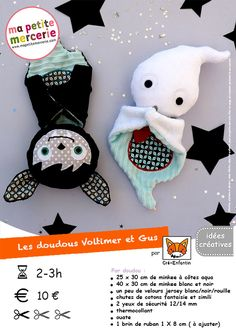 fiche technique doudous halloween bd Source by Baby Couture, Couture Sewing, Sewing Toys, Baby Sewing, Sewing For Kids, Diy For Kids, Couture Pour Halloween, Recycle Old Clothes, Tilda Toy