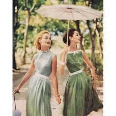 Flashback Friday with this whimsical pair from 1957. Where are you getting away to this weekend? #FBF #1950s #weekend #vintage #fashion