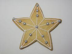 Star shaped Christmas biscuit.  £2.50