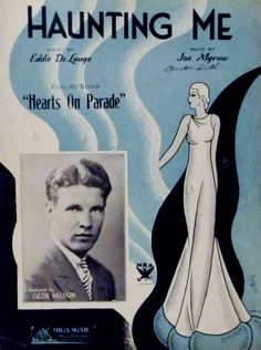 "OZZIE NELSON Sings ""Haunting Me"" 1934 Sheet Music from ""Hearts On Parade"" Review"