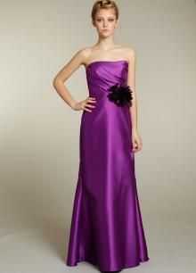 Cheap A-line Strapless Floor Length/Long Purple Satin Bridesmaid / Evening /Prom/Formal/ Wedding Party Dresses 2301100 Purple Bridesmaid Gowns, Beautiful Bridesmaid Dresses, Sexy Dresses, Prom Dresses, Long Dresses, Cheap Wedding Dress, Wedding Party Dresses, Formal Wedding, Purple Wedding