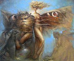 Margaret and Hippopotamus Cat (Aleksander Gorbunov)