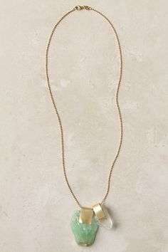 Baltic Trove Necklace: Frothy calcite and quartz, seemingly washed to shore by the sea. Handmade in Berlin by Nallik