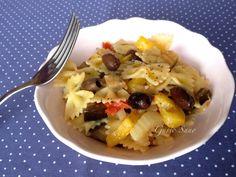 Ricetta: Farfalle con verdure e olive taggiasche