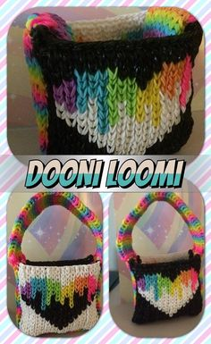 Rainbow Loom Purse. Loomed by Lauren Sachse. Rainbow Loom FB page. 04/09/14