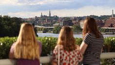 Terrace Overlooking Potomac River from John F. Kennedy Center for the Performing Arts - Where to Get the Best Skyline Views in Washington, DC