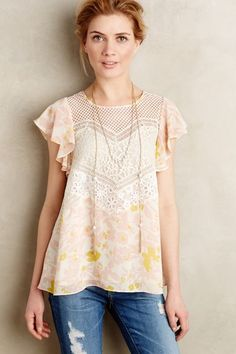 Fluttered Flores Blouse - #anthroregistry
